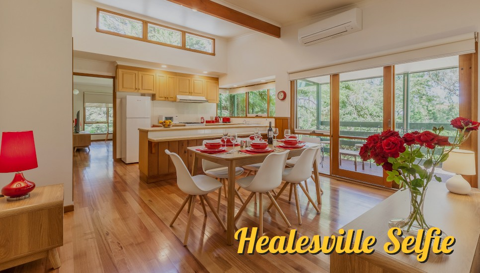 Healesville Selfie, rental holiday home web design.